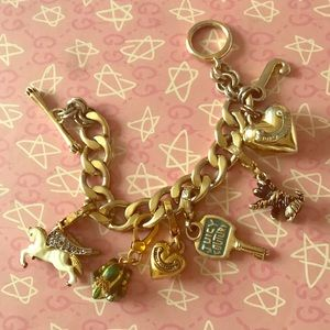 Juicy Couture charm bracelet with charms